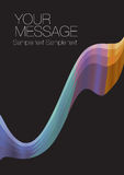 Colorful wave layout design. With own area for own text. Vector illustration vector illustration