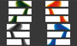 Colorful wave line banner collection royalty free stock photography