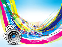 Colorful wave musical background Royalty Free Stock Photo