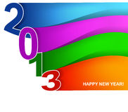Colorful wave New year card Stock Images