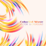 Colorful wave shape Stock Photos