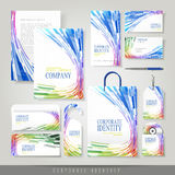 Colorful wave shaped stripes background for corporate identity Stock Photography