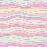 Colorful wave texture, seamless vector pattern for textile, backdrops, wallpapers, wrapping paper and other.  Stock Images