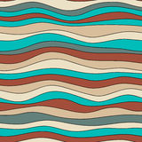 Colorful wave texture, seamless vector pattern for textile, backdrops, wallpapers, wrapping paper and other.  Royalty Free Stock Image