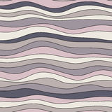 Colorful wave texture, seamless vector pattern for textile, backdrops, wallpapers, wrapping paper and other.  Royalty Free Stock Photo