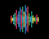 Colorful waveform Royalty Free Stock Photo