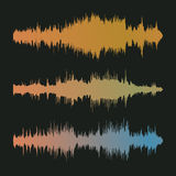 Colorful waveform Stock Images