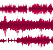 Colorful waveform. Set of colorful waveforms, vintage abstract background and symbol for music, sound engineering, and dance Royalty Free Stock Images