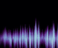 Colorful waveform. Vintage abstract background and symbol for music, sound engineering, and dance Stock Images