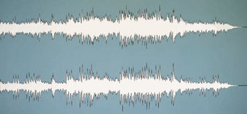 Colorful waveform. Vintage abstract background and symbol for music, sound engineering, and dance Royalty Free Stock Photography