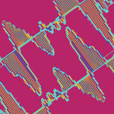 Colorful waveform Stock Image