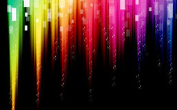Colorful Waves abstract background. On dark Stock Images
