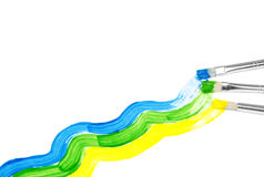Colorful waves background Stock Photo