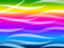 Colorful Waves Background Means Rainbow Wavy Lines Stock Images
