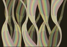 Colorful waves of layout design. In black background. Vector illustration stock illustration