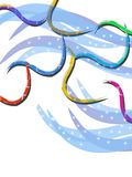 colorful waves line, abstract background Stock Images