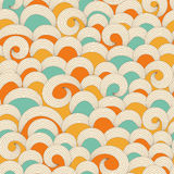 Colorful waves pattern. Seamless background with colorful waves ornament Stock Photography