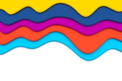Colorful waves Stock Image