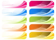 Colorful Wavey Background Royalty Free Stock Photography