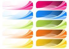 Colorful Wavey Background. Illustration of set of colorful wavey background Royalty Free Stock Photography