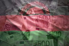 Colorful waving malawi flag on a euro  background Royalty Free Stock Images