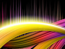 Colorful wavy Abstract Background. Illustration of colorful stripes Background Royalty Free Stock Images