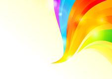 Colorful Wavy Background Stock Photo