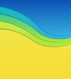 Colorful wavy background. Stock Photos
