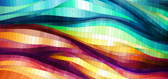Colorful wavy background Stock Image