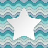 Colorful wavy background with place for text in the shape of a s Royalty Free Stock Photo