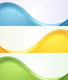 Colorful wavy banners Stock Photography