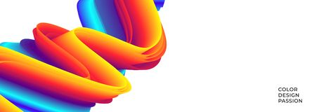 Colorful wavy flows of a fluid lines. And liquid shapes with a smooth splash of color. Eps10 royalty free illustration
