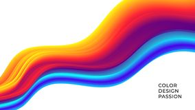 Colorful wavy flows of a fluid lines of a liquid shapes. With a smooth splash of color. Eps10 royalty free illustration
