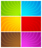 Colorful wavy line backgrounds Royalty Free Stock Photo