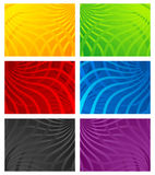 Colorful wavy line backgrounds Royalty Free Stock Image