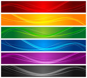Colorful wavy line banners Stock Photo