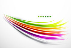 Colorful wavy lines Royalty Free Stock Photos