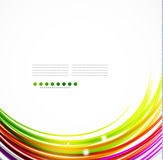 Colorful wavy lines Stock Images