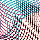 Colorful wavy lines in an abstract background design vector in waves of red blue black and off white. Colorful bold wavy lines in an abstract background design Stock Illustration