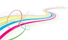 Colorful wavy pattern Stock Images