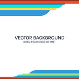 Colorful Wavy Vector Background Stock Image
