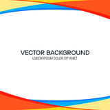 Colorful Wavy Vector Background Royalty Free Stock Photography