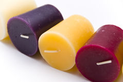 Colorful wax candle Royalty Free Stock Image