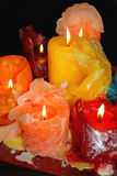 Colorful wax candles Stock Photos