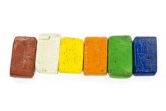 Colorful wax crayon Stock Photos