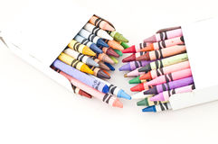 Colorful wax crayons Stock Image