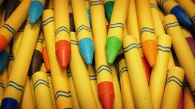 Colorful Wax Crayons Rotating stock footage