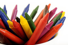 Colorful wax pencils Stock Image