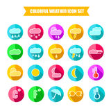Colorful Weather Icon Set. Vector Illustration Stock Photo