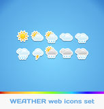 Colorful Weather Icons Royalty Free Stock Photo